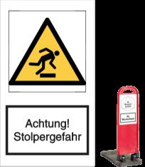 Vorlage: Achtung! Stolpergefahr