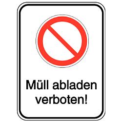 Vorlage: Symbol und Text Müll abladen verboten