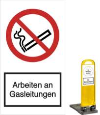 Vorlage: Arbeiten an Gasleitungen