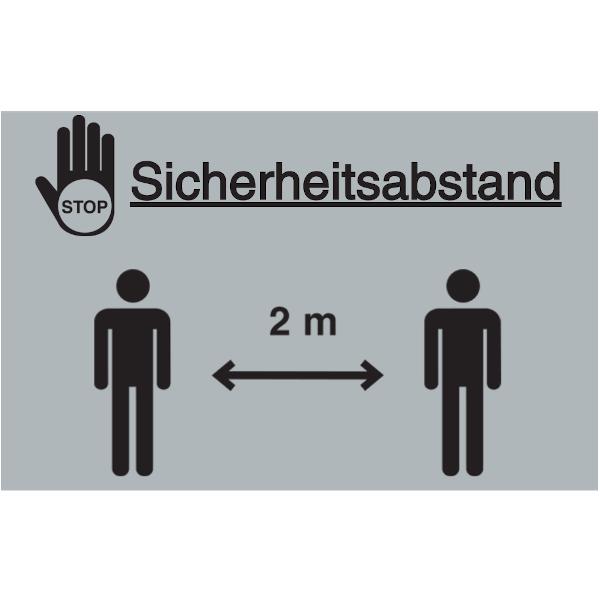Vorlage: STOP - Sicherheitsabstand - 2 Meter
