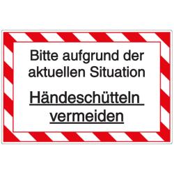 Vorlage: Bitte aufgrund der aktuellen Situation Händeschütteln vermeiden