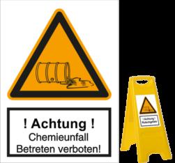 Vorlage: Chemieunfall - Betreten verboten!