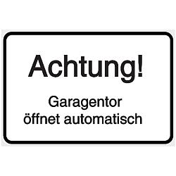 Vorlage: Garagentor öffnet automatisch Achtung!