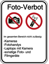 Vorlage: Foto-Verbot