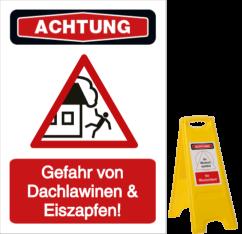 Vorlage: Gefahr von Dachlawinen & Eiszapfen!
