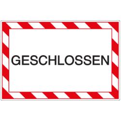 Vorlage: GESCHLOSSEN - Kunststoffschild