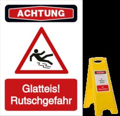Vorlage: Glatteis! Rutschgefahr