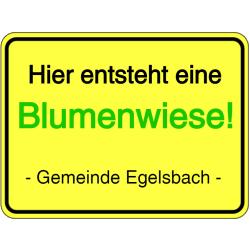 Vorlage: Hier entsteht eine Blumenwiese! Gemeinde Egelsbach