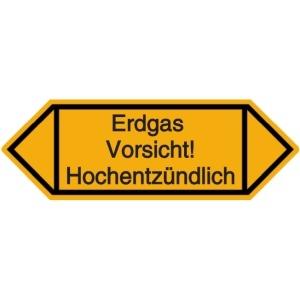 Vorlage: Erdgas - Vorsicht! - Hochentzündlich