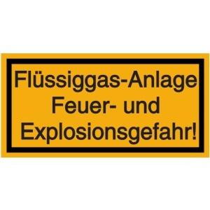 Vorlage: Flüssiggas-Anlage - Feuer- und Explosionsgefahr!
