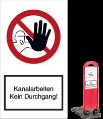 Vorlage: Kanalarbeiten - Kein Durchgang!