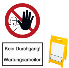 Vorlage: Kein Durchgang! Wartungsarbeiten