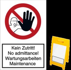 Vorlage: Kein Zutritt! No admittance! Wartungsarbeiten Maintenance