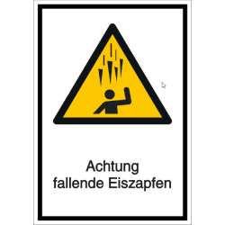 Vorlage: Kombi-Schild Achtung fallende Eiszapfen!