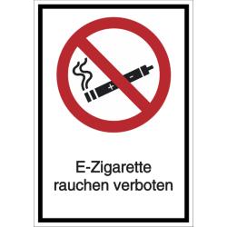 Vorlage: Kombi-Verbotsschild E-Zigarette rauchen verboten