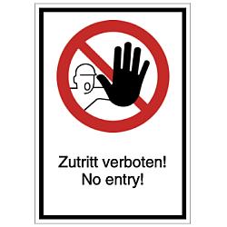 Vorlage: Zutritt verboten