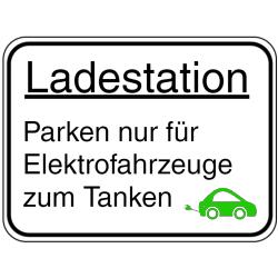 Vorlage: Ladestation - Parken nur für Elektrofahrzeuge zum Tanken