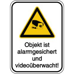 Vorlage: Objekt ist alarmgesichert und videoüberwacht