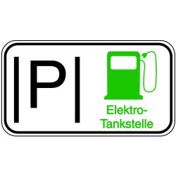 Vorlage: Parkplatz Elektro-Tankstelle