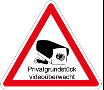 Vorlage: Privatgrundstück videoüberwacht