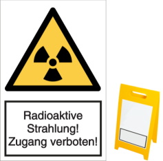 Vorlage: Radioaktive Strahlung! Zugang verboten!