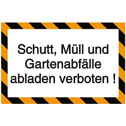 Vorlage: Hinweisschilder-Vorlage Müll, Schutt und Gartenabfälle abladen verboten!