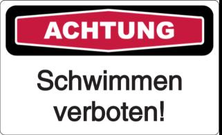 Vorlage: Schwimmen verboten!