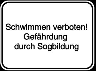 Vorlage: Schwimmen verboten-Gefährdung durch Sogbildung