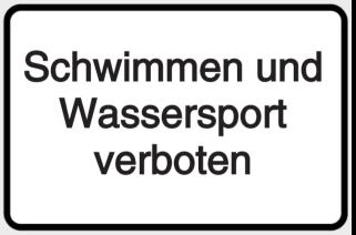 Vorlage: Schwimmen und Wassersport verboten!