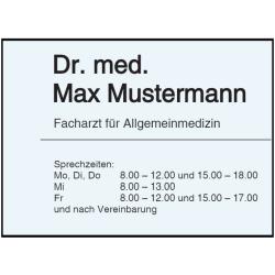 Vorlage: Sprechzeiten Arzt - Folienaufkleber