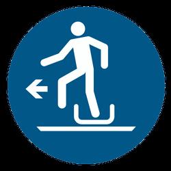 Vorlage: Symbol Ausstieg vom Schlitten links benutzen
