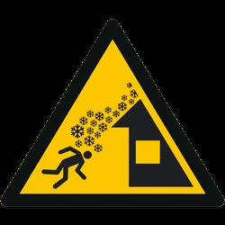Vorlage: Symbol Warnung vor Dachlawine