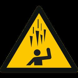 Vorlage: Symbol Warnung vor Eisschlag