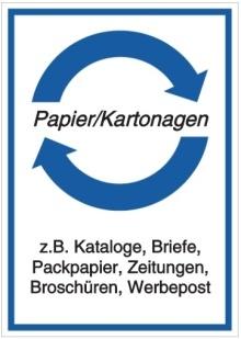 Vorlage: Papier/Kartonagen - z.B. Kataloge, Briefe, Packpapier, Zeitungen, Broschüren, Werbepost