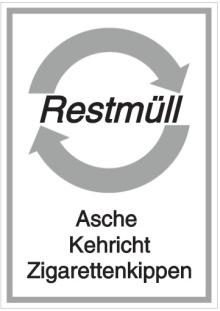 Vorlage: Restmüll - Asche Kehricht Zigarettenkippen