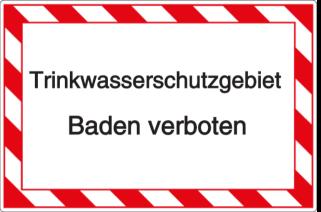 Vorlage: Trinkwasserschutzgebiet-Baden verboten