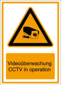 Vorlage: Videoüberwachung - CCTV in operation (DE/ENG)