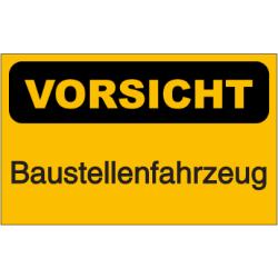 Vorlage: Vorsicht - Baustellenfahrzeug