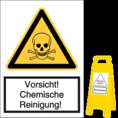 Vorlage: Vorsicht! Chemische Reinigung!