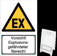 Vorlage: Vorsicht! Explosionsgefährdeter Bereich!