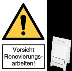 Vorlage: Vorsicht Renovierungsarbeiten!