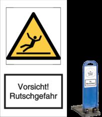 Vorlage: Vorsicht! Rutschgefahr