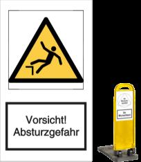 Vorlage: Vorsicht! Absturzgefahr