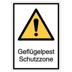 Vorlage: Warnschild-Vorlage: Geflügelpest Schutzzone