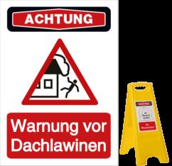 Vorlage: Warnung vor Dachlawinen