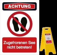 Vorlage: Zugefrorenen See nicht betreten!