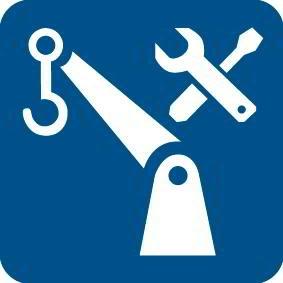 Prüfung von Arbeitsmitteln und Kränen einschließlich Tragkonstruktion und Ausrüstung