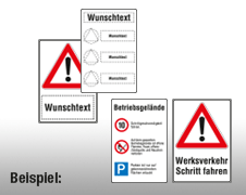 Individuelle Verkehrsschilder