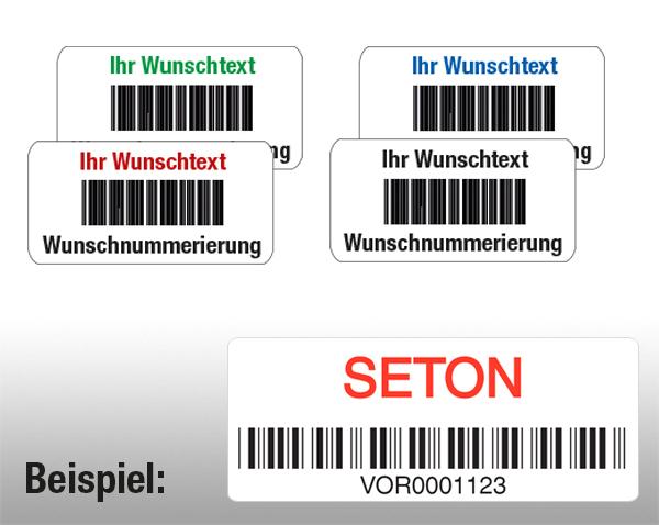 Individuelle Barcode-Etiketten