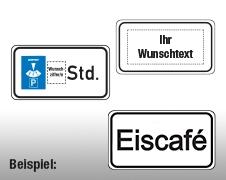 Individuelle Zusatztafeln Verkehrszeichen
